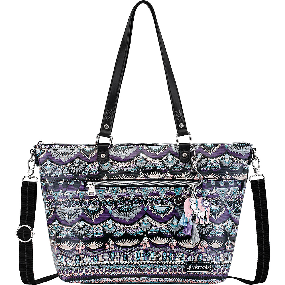 Sakroots Artist Circle City Satchel Violet One World - Sakroots Fabric Handbags - Handbags, Fabric Handbags