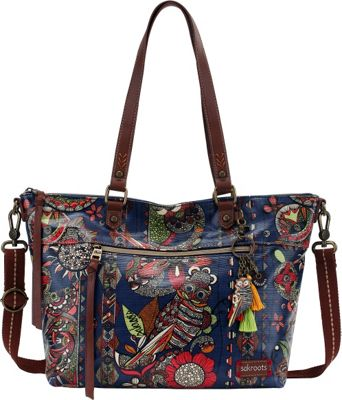 Sakroots Artist Circle City Satchel Midnight Spirit Desert - Sakroots Fabric Handbags