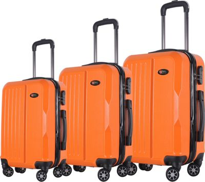 Brio Luggage Brio Luggage Hardside Spinner Luggage 3-Piece Set #1701 Orange - Brio Luggage Luggage Sets
