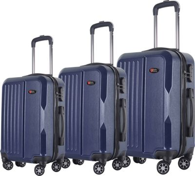 Brio Luggage Brio Luggage Hardside Spinner Luggage 3-Piece Set #1701 Navy - Brio Luggage Luggage Sets