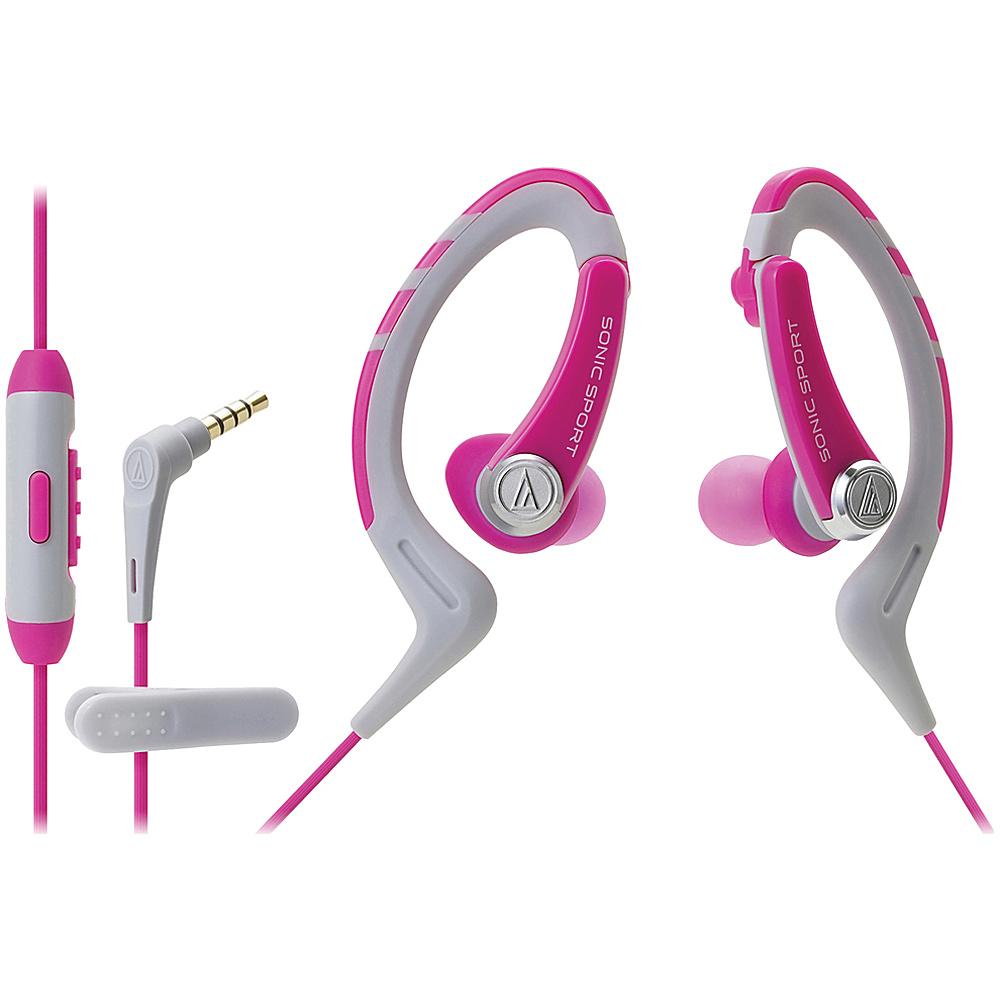 Audio Technica ATH SPORT1ISPK SonicSport In ear Headphones Pink Audio Technica Headphones Speakers