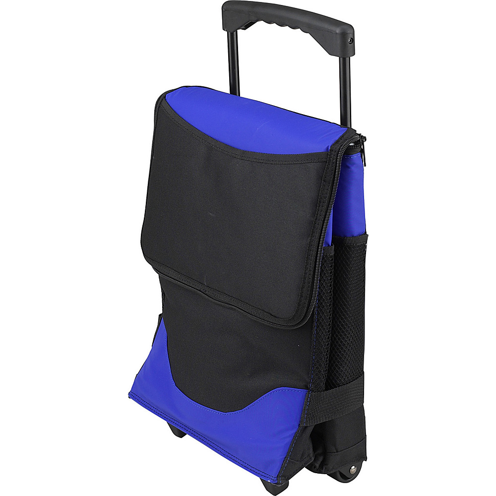 Picnic at Ascot Insulated 6 Bottle Wine Carrier on Wheels Royal Blue - Picnic at Ascot Outdoor Coolers - Outdoor, Outdoor Coolers