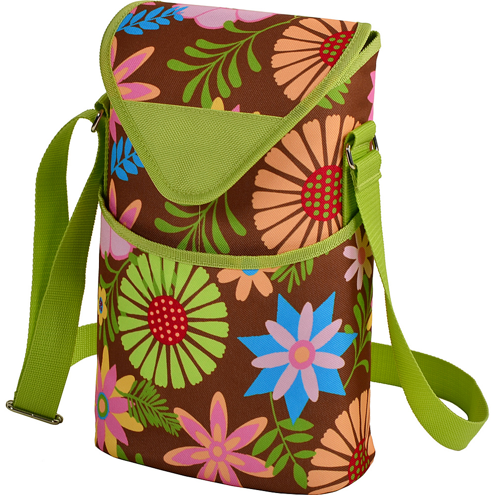 Picnic at Ascot Insulated Wine/Water Bottle Tote with Shoulder Strap Floral - Picnic at Ascot Outdoor Accessories