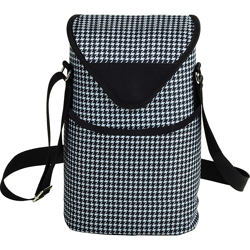 Picnic at Ascot Insulated Wine/Water Bottle Tote with Shoulder Strap Houndstooth - Picnic at Ascot Outdoor Accessories - Outdoor, Outdoor Accessories