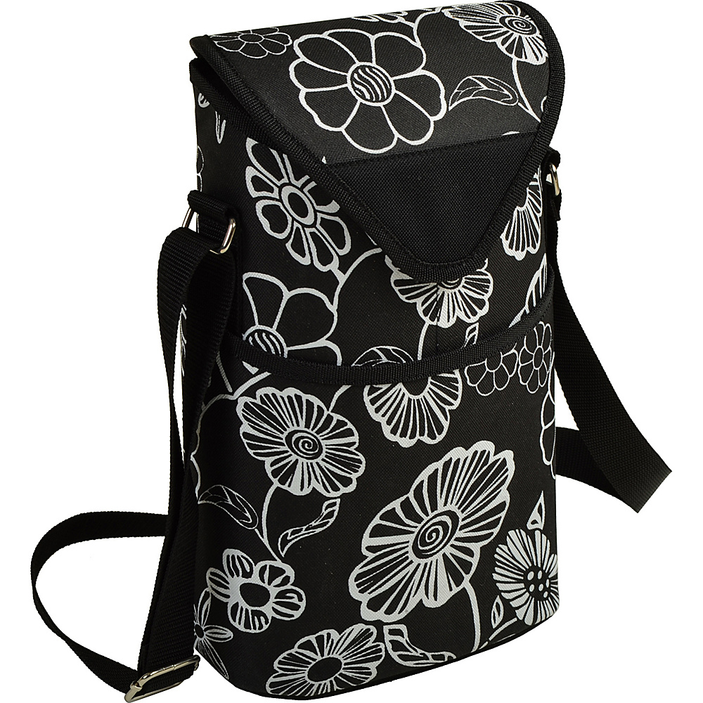 Picnic at Ascot Insulated Wine/Water Bottle Tote with Shoulder Strap Night Bloom - Picnic at Ascot Outdoor Accessories