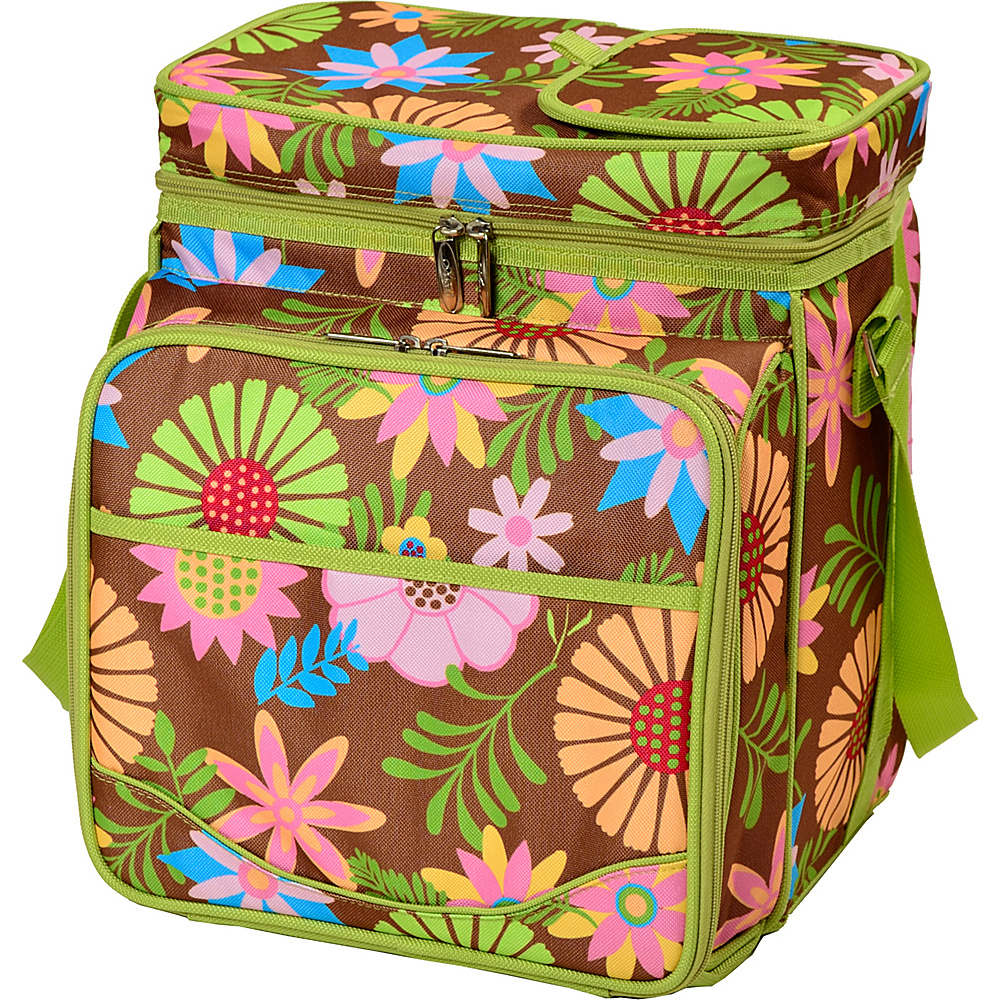 Picnic at Ascot Insulated Picnic Basket/Cooler Fully Equipped with Service for 2 Floral - Picnic at Ascot Outdoor Coolers - Outdoor, Outdoor Coolers