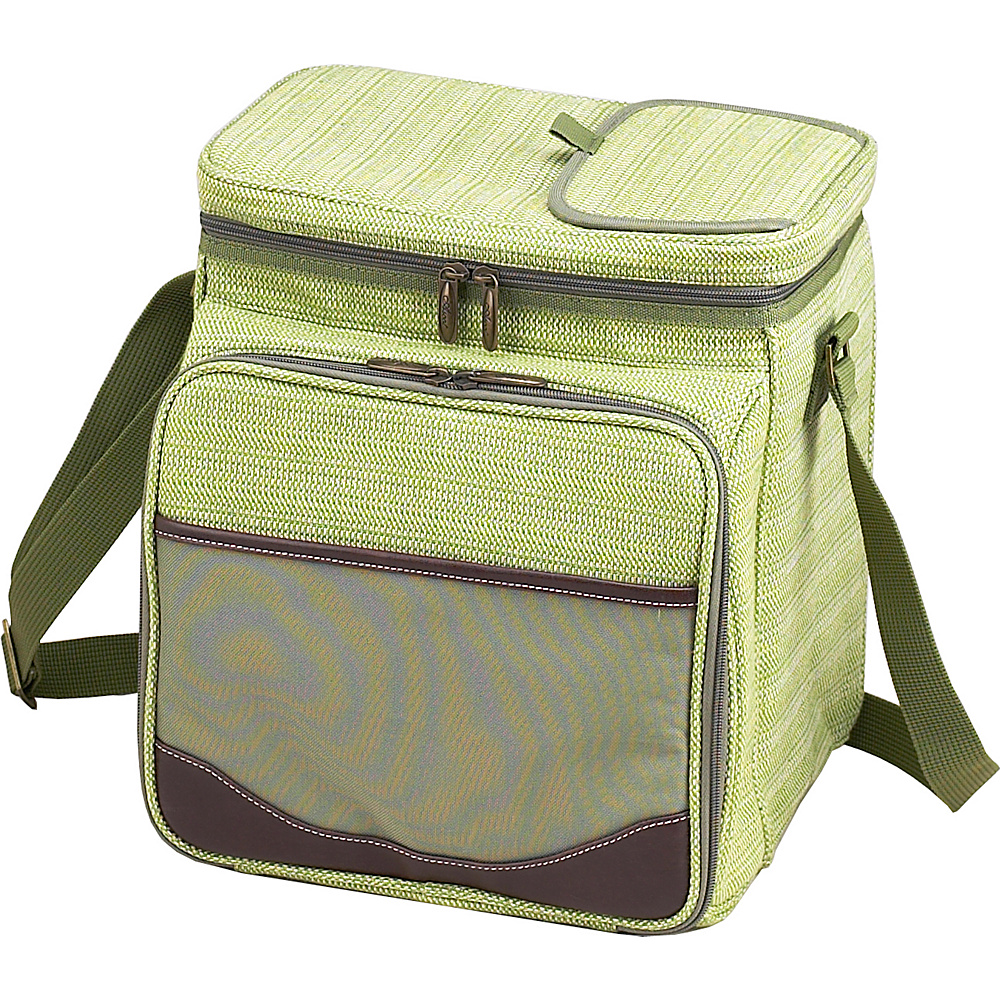 Picnic at Ascot Insulated Picnic Basket/Cooler Fully Equipped with Service for 2 Olive Tweed - Picnic at Ascot Outdoor Coolers - Outdoor, Outdoor Coolers