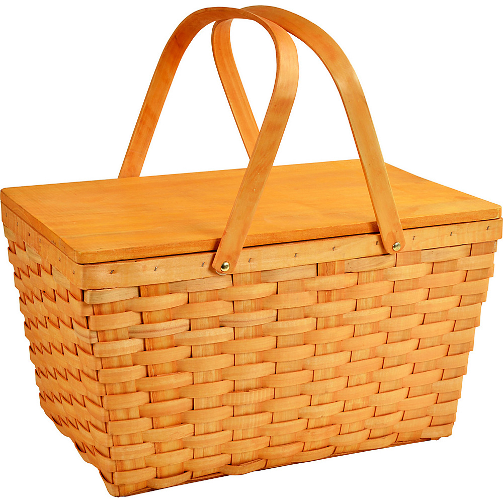 Picnic at Ascot Large Family Size Traditional American Lined Picnic Basket Honey - Picnic at Ascot Outdoor Accessories - Outdoor, Outdoor Accessories
