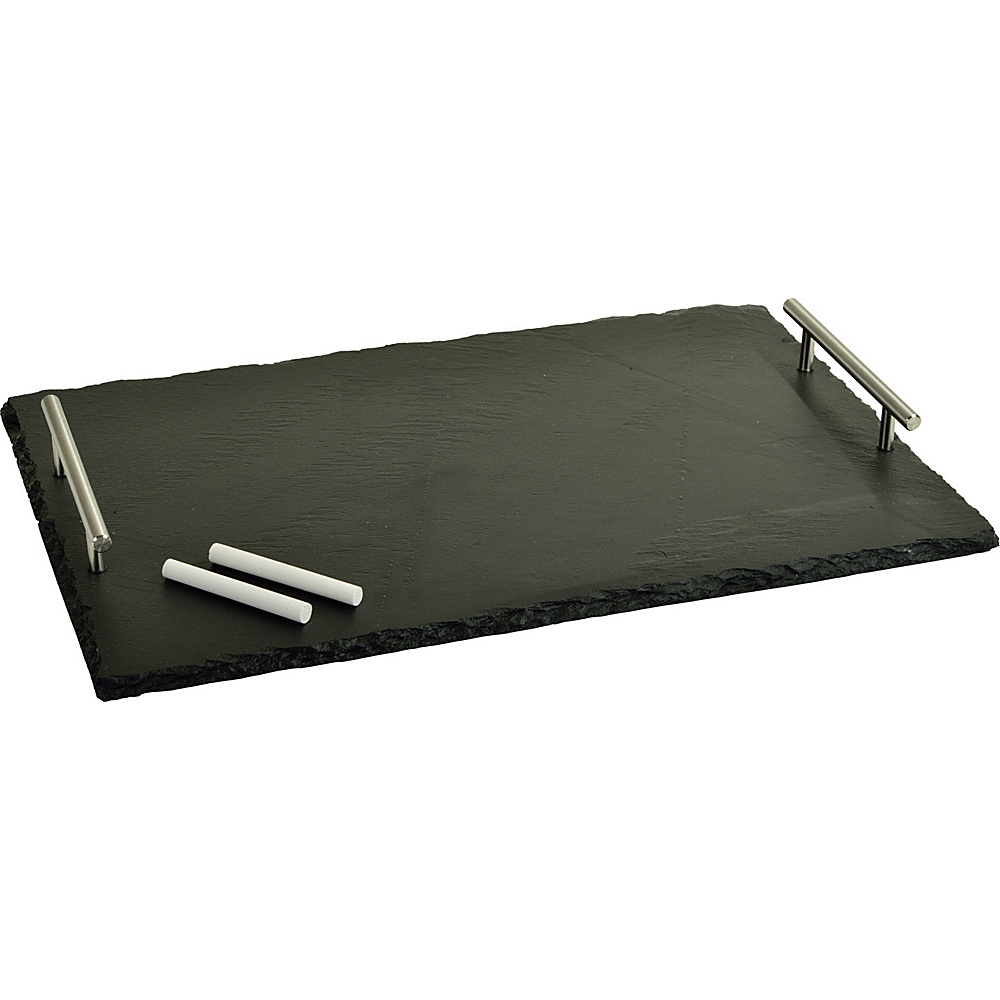 Picnic at Ascot Sardo Slate Cheese Board with Soapstone Chalk Black Slate - Picnic at Ascot Outdoor Accessories - Outdoor, Outdoor Accessories