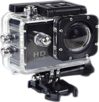 Koolulu 1080p 12MP Wide-Angle Sport Video Camera with Waterproof Case Black - Koolulu Cameras