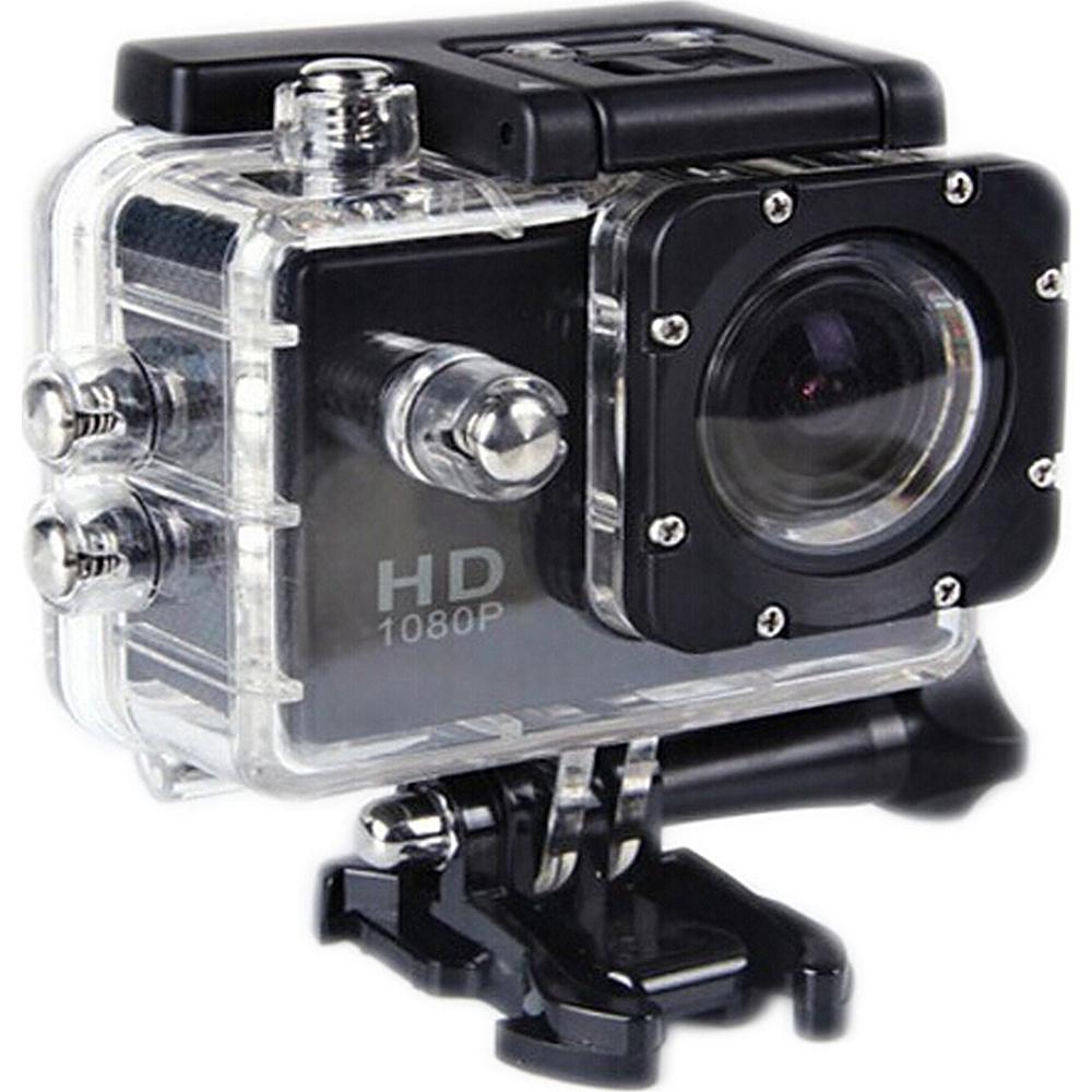 Koolulu 1080p 12MP Wide Angle Sport Video Camera with Waterproof Case Black Koolulu Cameras