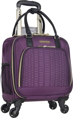 Aimee Kestenberg Florence Collection 4-Wheel Under-Seat / Carry-On Plum - Aimee Kestenberg Softside Carry-On