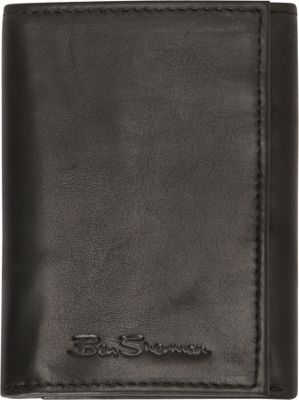 Ben Sherman Luggage Manchester Collection Leather Trifold Wallet Black - Ben Sherman Luggage Men's Wallets