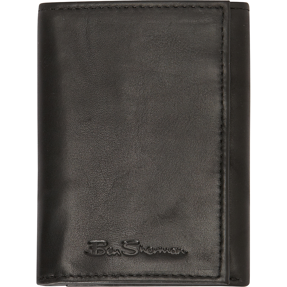 Ben Sherman Luggage Manchester Collection Leather Trifold Wallet Black Ben Sherman Luggage Men s Wallets
