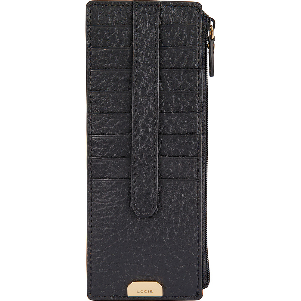 Lodis Borrego Under Lock and Key Credit Card Case with Zipper Black - Lodis Womens Wallets - Women's SLG, Women's Wallets