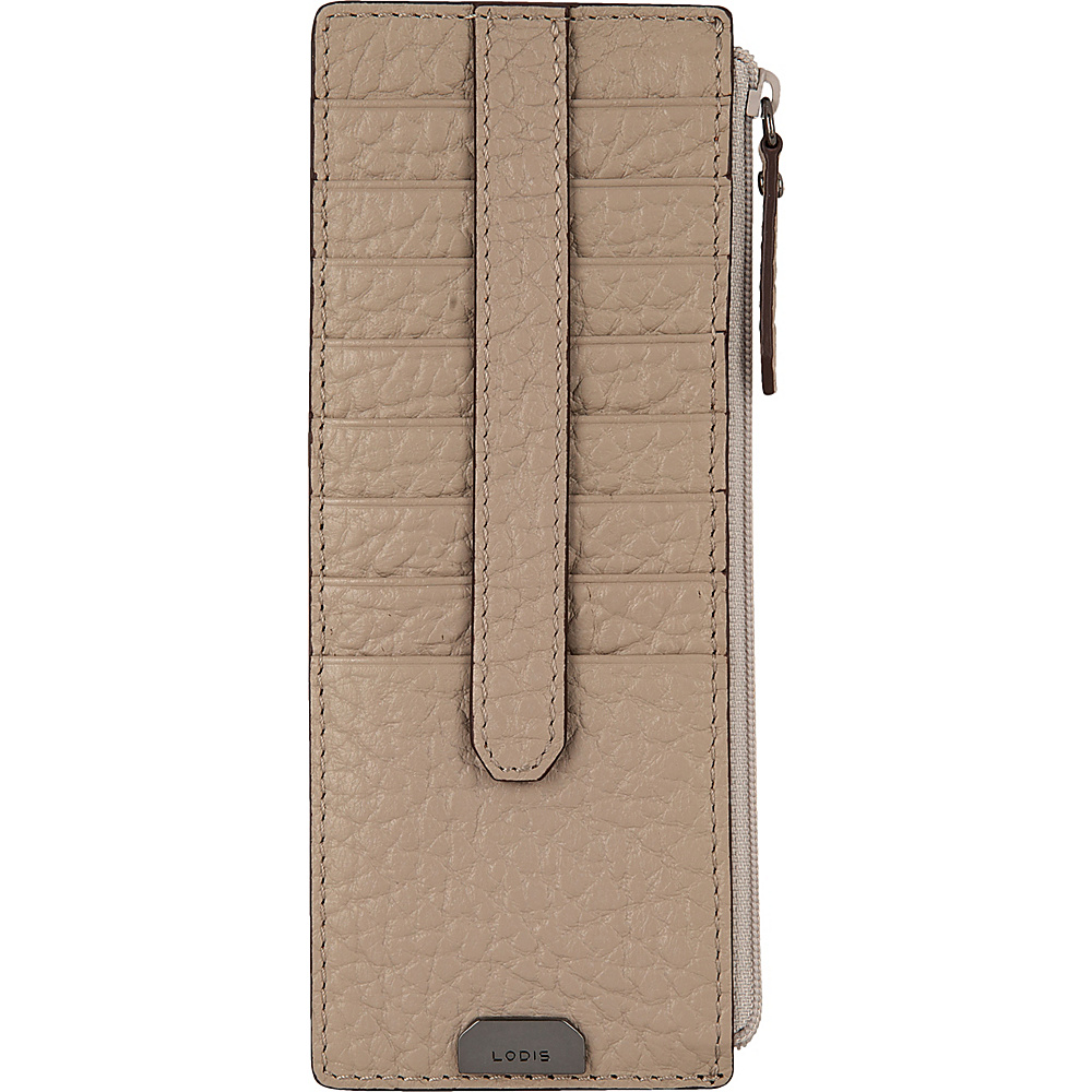 Lodis Borrego Under Lock and Key Credit Card Case with Zipper Taupe - Lodis Womens Wallets - Women's SLG, Women's Wallets