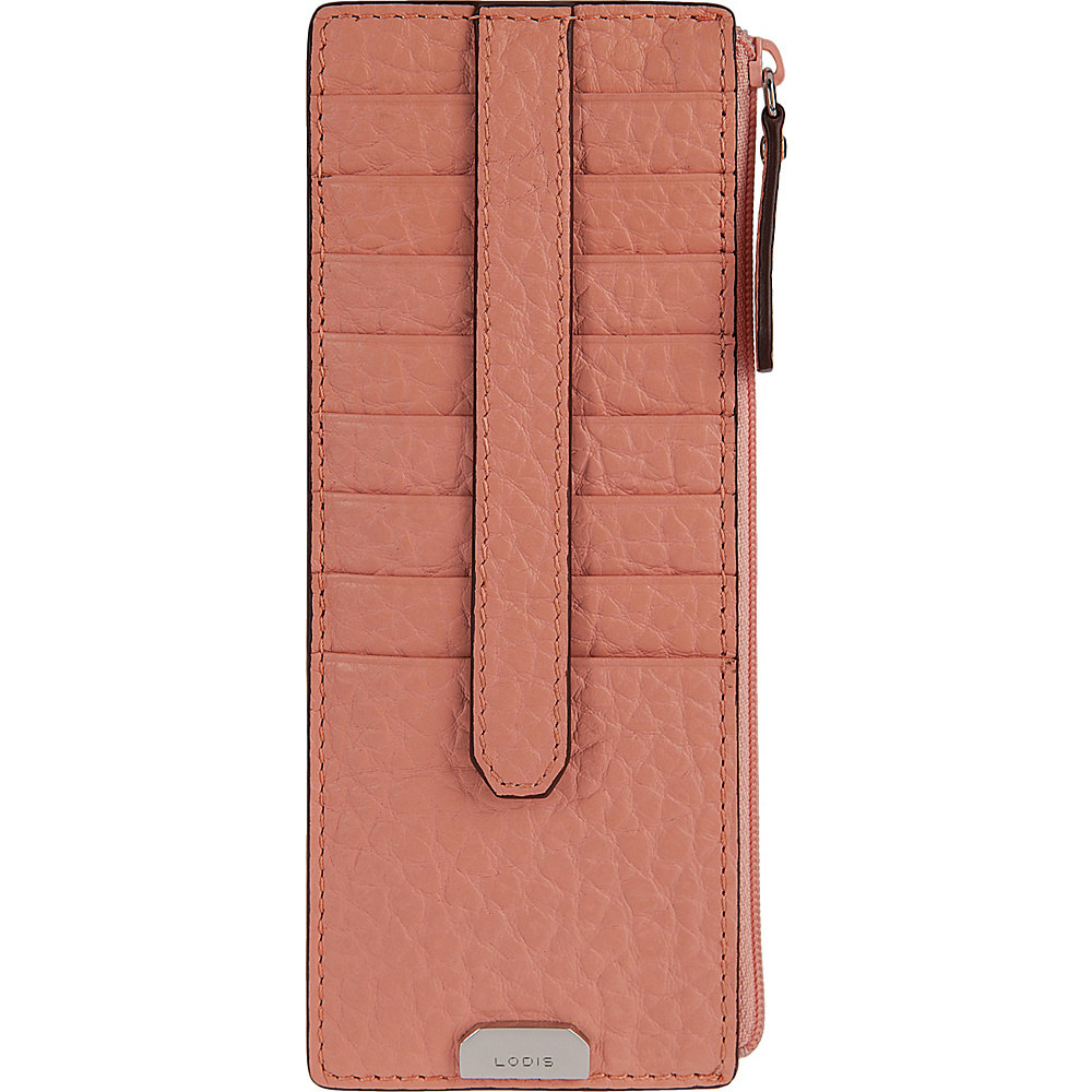 Lodis Borrego Under Lock and Key Credit Card Case with Zipper Blush - Lodis Womens Wallets - Women's SLG, Women's Wallets