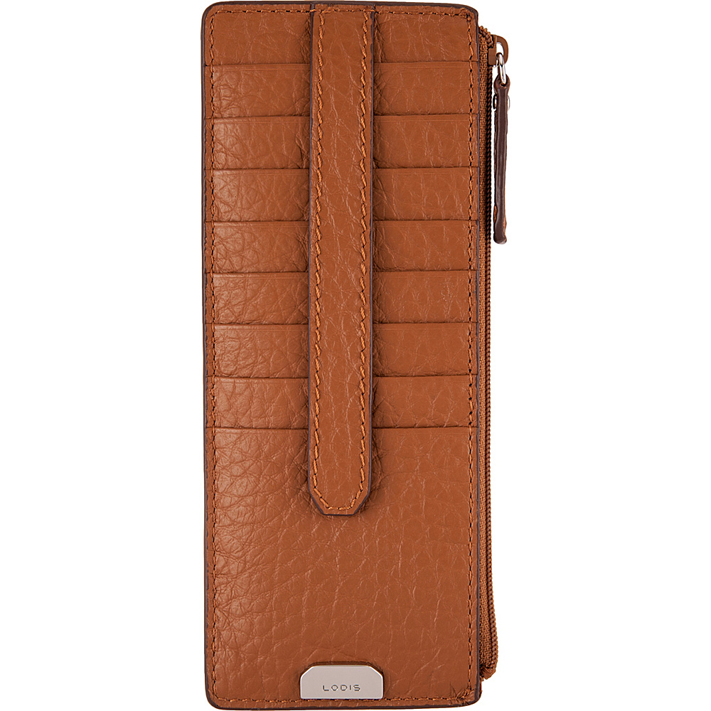 Lodis Borrego Under Lock and Key Credit Card Case with Zipper Toffee - Lodis Womens Wallets - Women's SLG, Women's Wallets