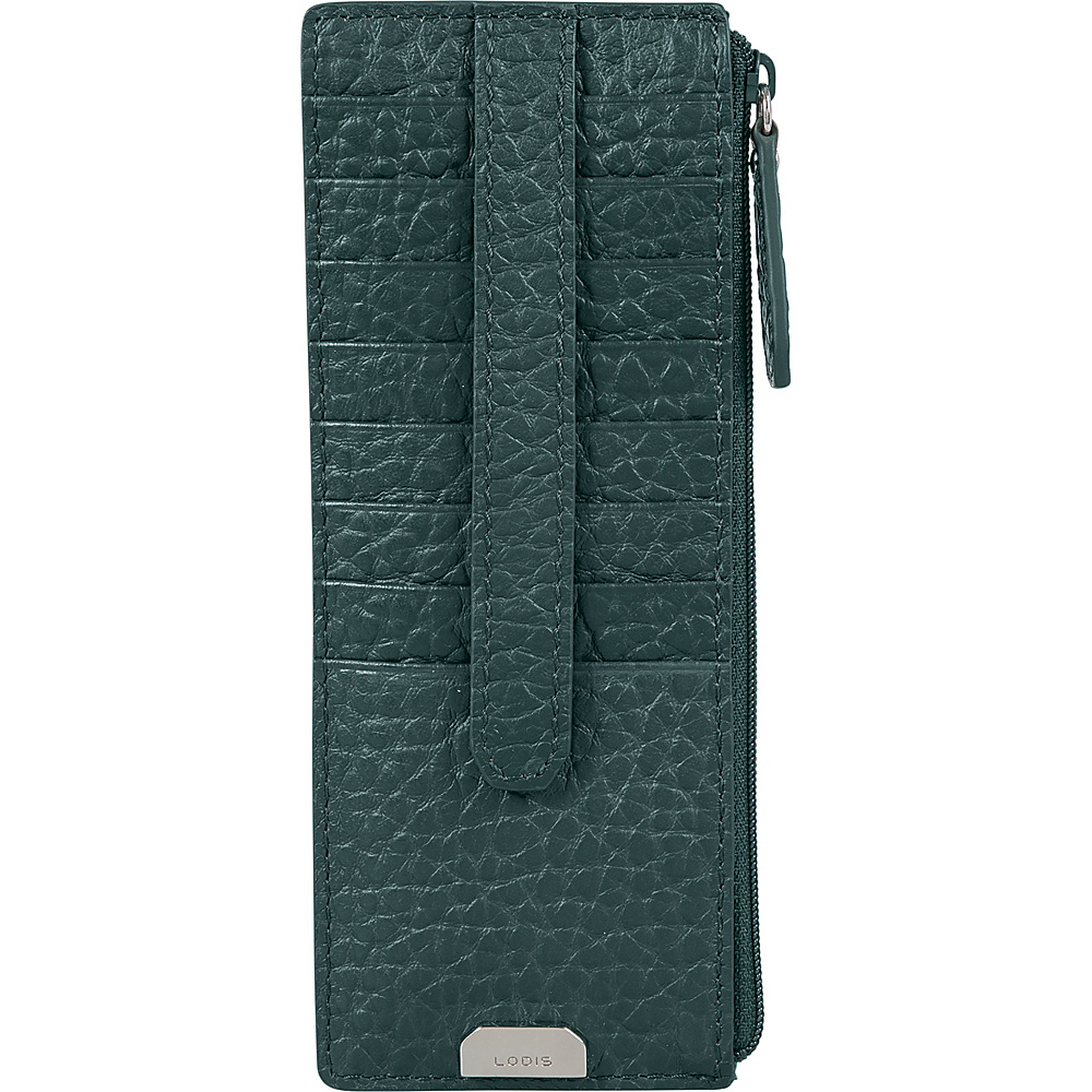 Lodis Borrego Under Lock and Key Credit Card Case with Zipper Forest - Lodis Womens Wallets - Women's SLG, Women's Wallets