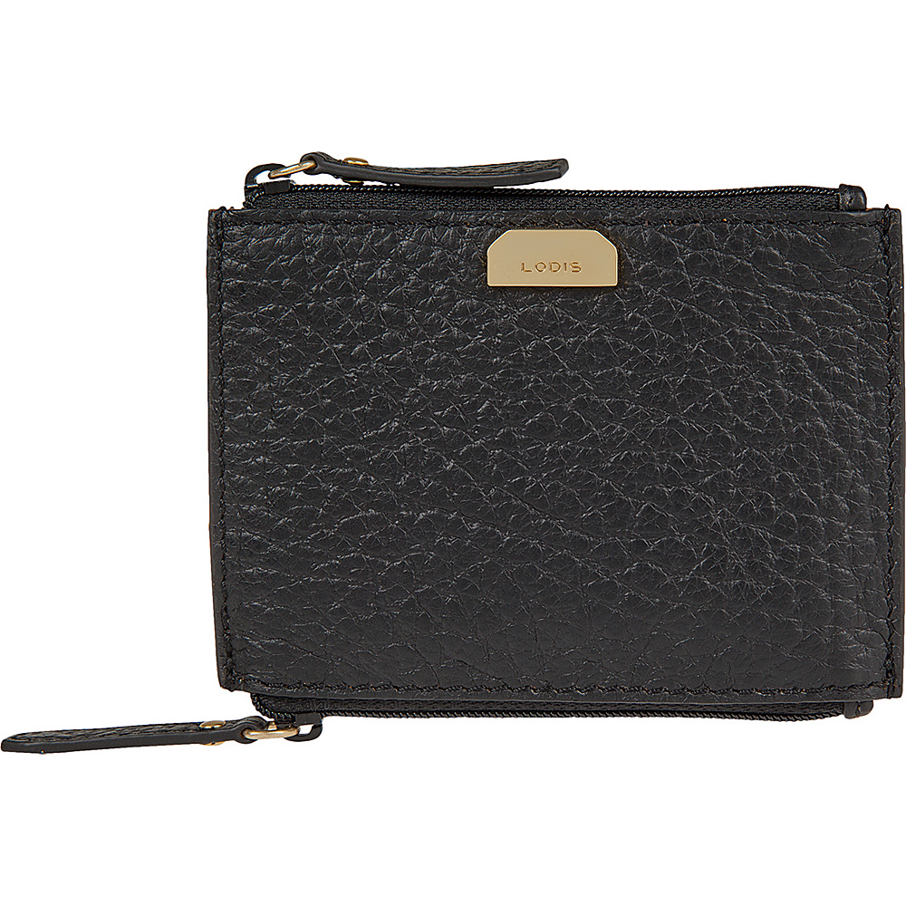 Lodis Borrego Under Lock and Key Frances Double Zip Pouch Black - Lodis Womens Wallets - Women's SLG, Women's Wallets