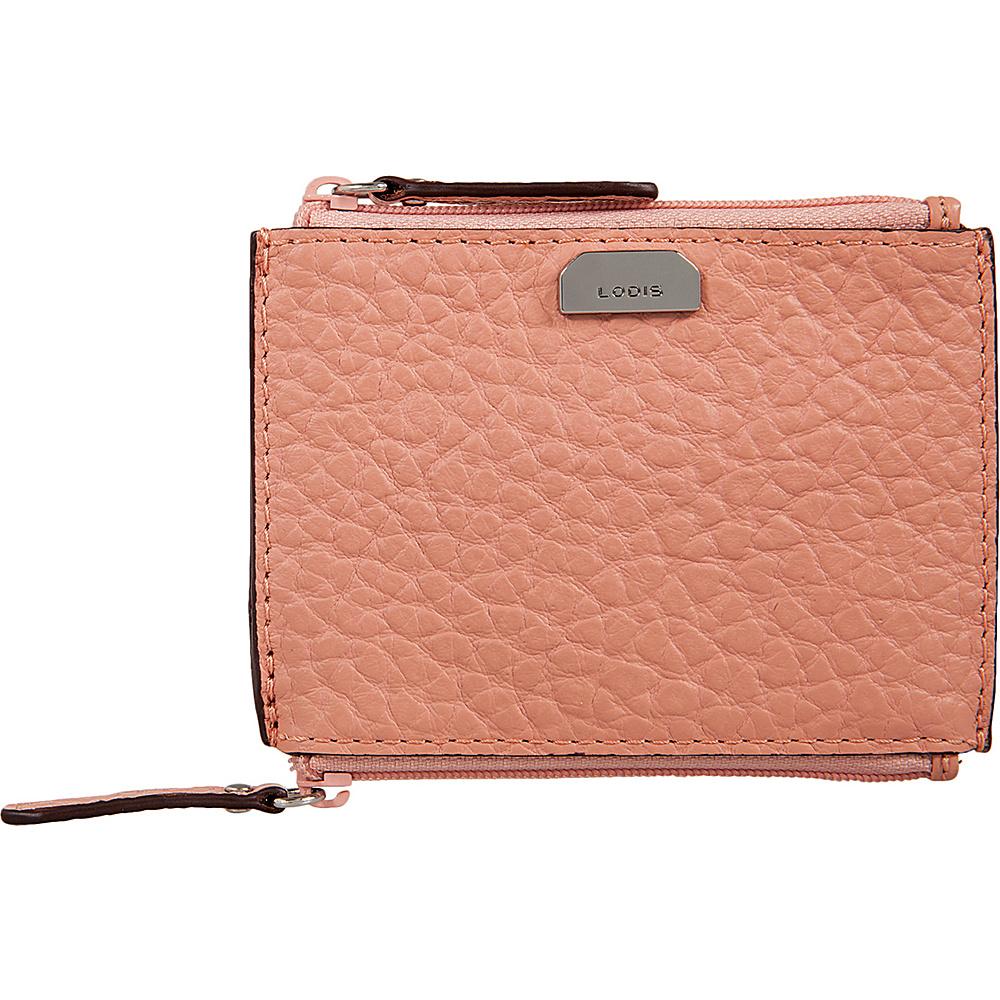 Lodis Borrego Under Lock and Key Frances Double Zip Pouch Blush - Lodis Womens Wallets - Women's SLG, Women's Wallets