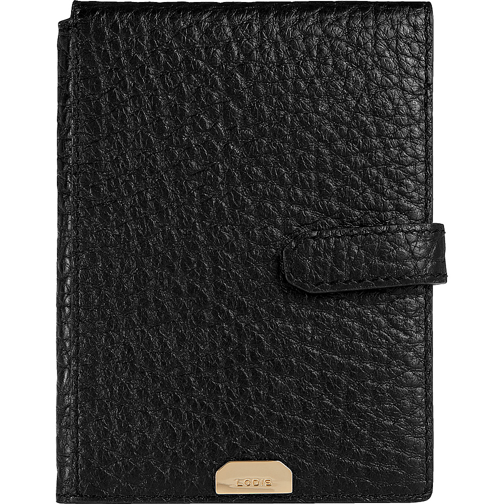 Lodis Borrego Under Lock and Key Passport Wallet with Ticket Flap Black - Lodis Travel Wallets - Travel Accessories, Travel Wallets