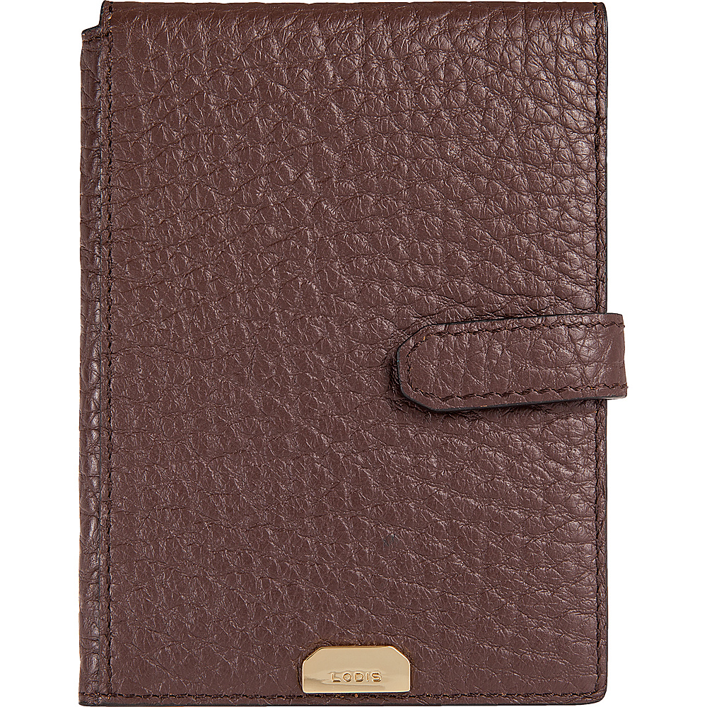 Lodis Borrego Under Lock and Key Passport Wallet with Ticket Flap Dark Brown - Lodis Travel Wallets - Travel Accessories, Travel Wallets