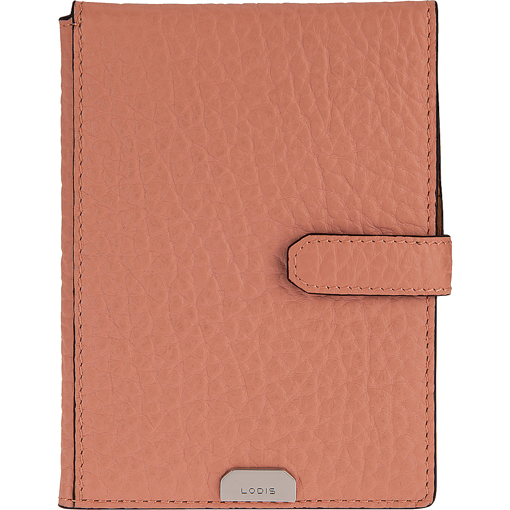 Lodis Borrego Under Lock and Key Passport Wallet with Ticket Flap Blush - Lodis Travel Wallets - Travel Accessories, Travel Wallets
