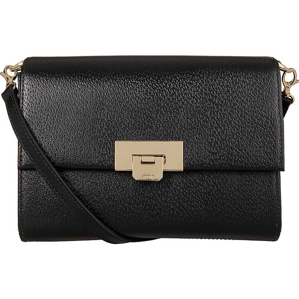 Lodis Stephanie Under Lock and Key Eden Small Crossbody Black - Lodis Leather Handbags - Handbags, Leather Handbags