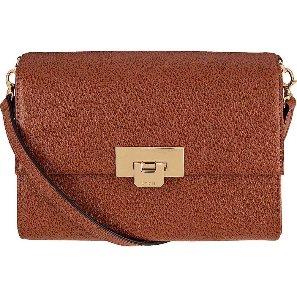 Lodis Stephanie Under Lock and Key Eden Small Crossbody Chestnut - Lodis Leather Handbags - Handbags, Leather Handbags