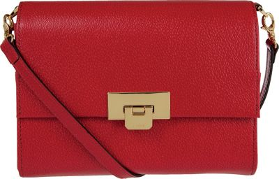 Lodis Stephanie Under Lock and Key Eden Small Crossbody Red - Lodis Leather Handbags