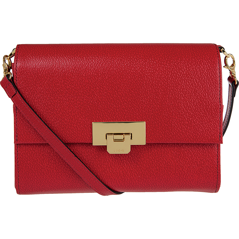 Lodis Stephanie Under Lock and Key Eden Small Crossbody Red - Lodis Leather Handbags - Handbags, Leather Handbags