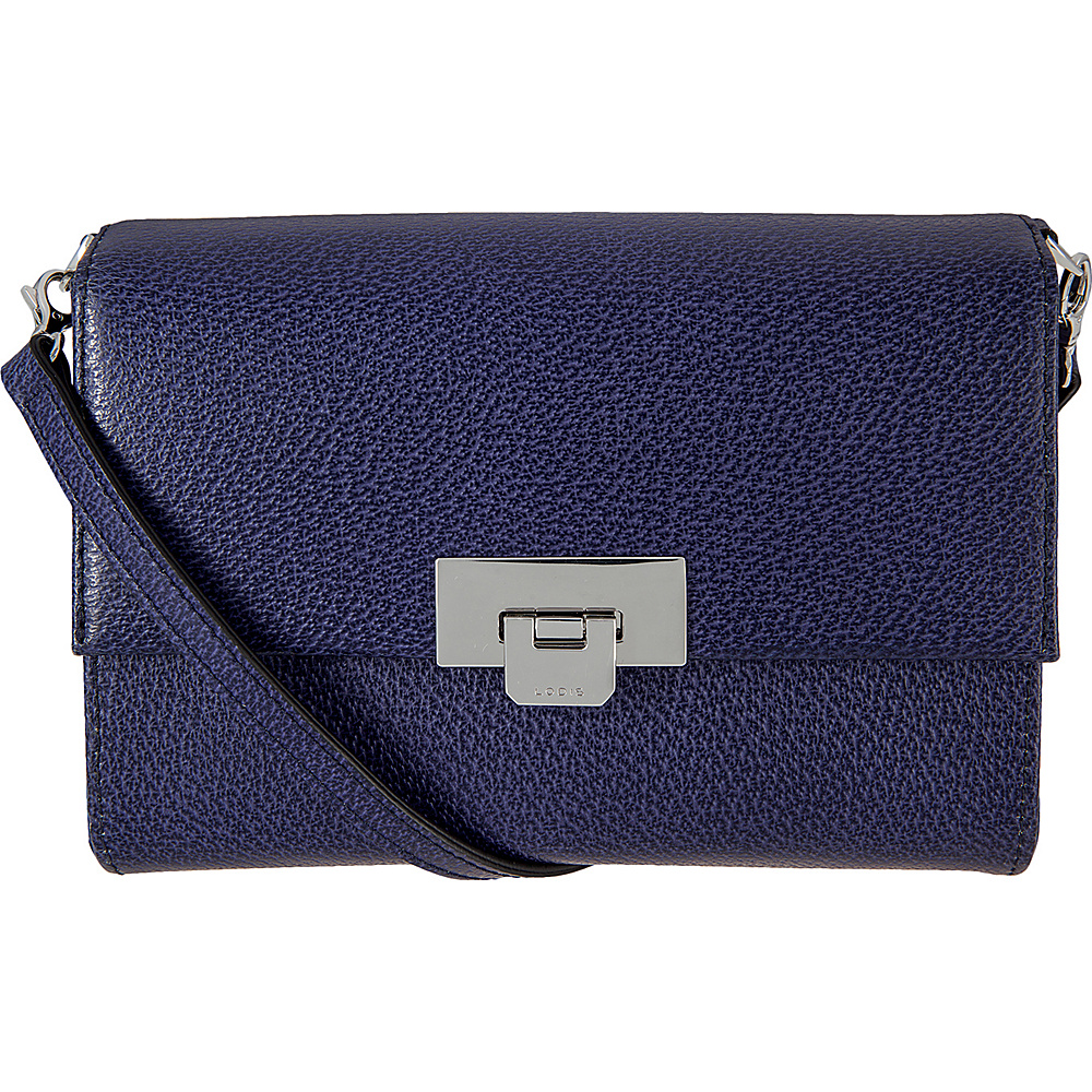 Lodis Stephanie Under Lock and Key Eden Small Crossbody Midnight - Lodis Leather Handbags - Handbags, Leather Handbags