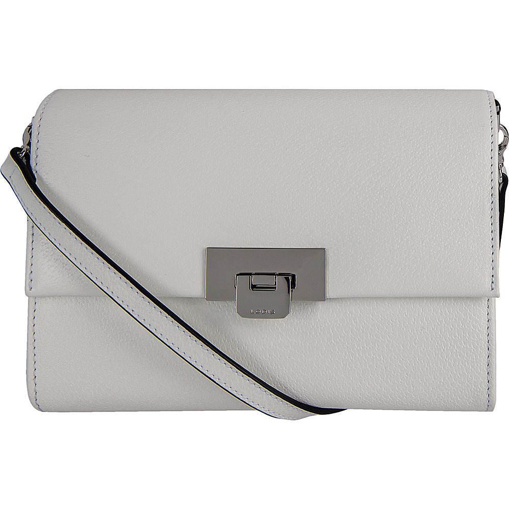 Lodis Stephanie Under Lock and Key Eden Small Crossbody White - Lodis Leather Handbags - Handbags, Leather Handbags