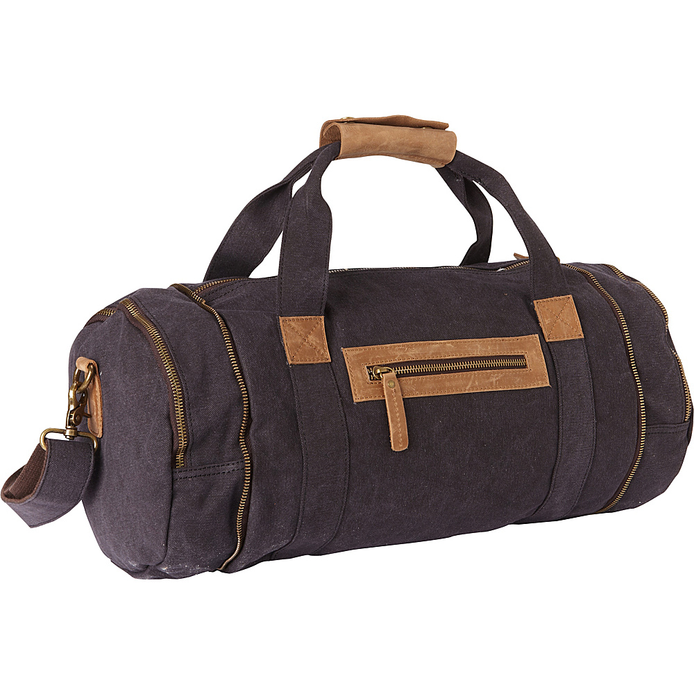 Vagabond Traveler Classic Medium Canvas Duffle Gym Bag Grey - Vagabond Traveler Travel Duffels - Duffels, Travel Duffels