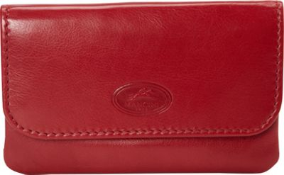 Mancini Leather Goods Manchester Collection: Men's RFID Secure Coin Purse with Key Chain Red - Mancini Leather Goods Men's Wallets