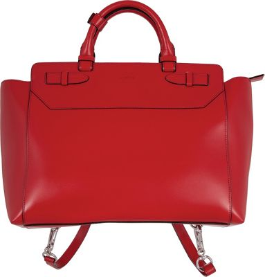 Lodis Audrey Quince Convertible Backpack Red - Lodis Leather Handbags