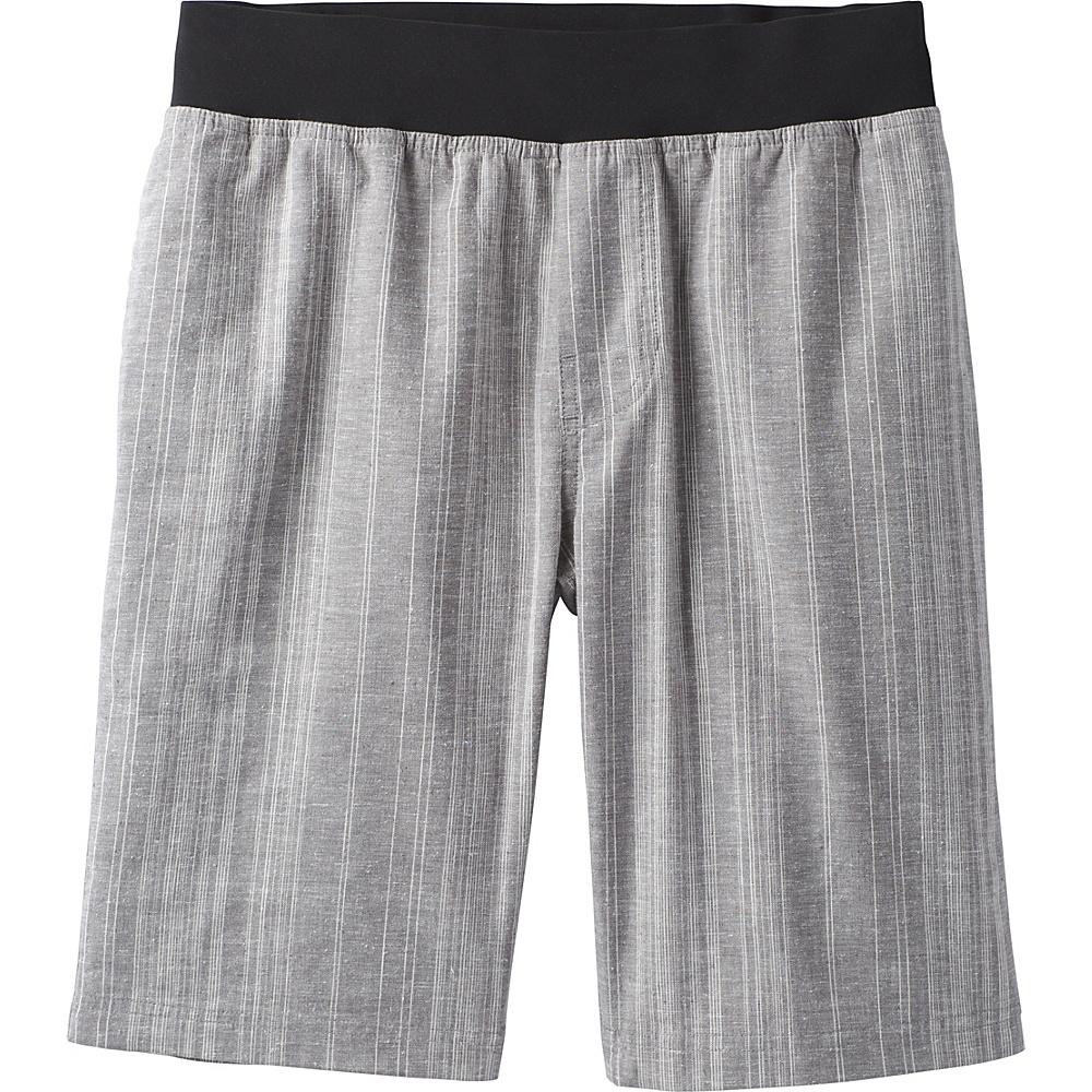 PrAna Vaha Short S - Gravel Stripe - PrAna Mens Apparel - Apparel & Footwear, Men's Apparel