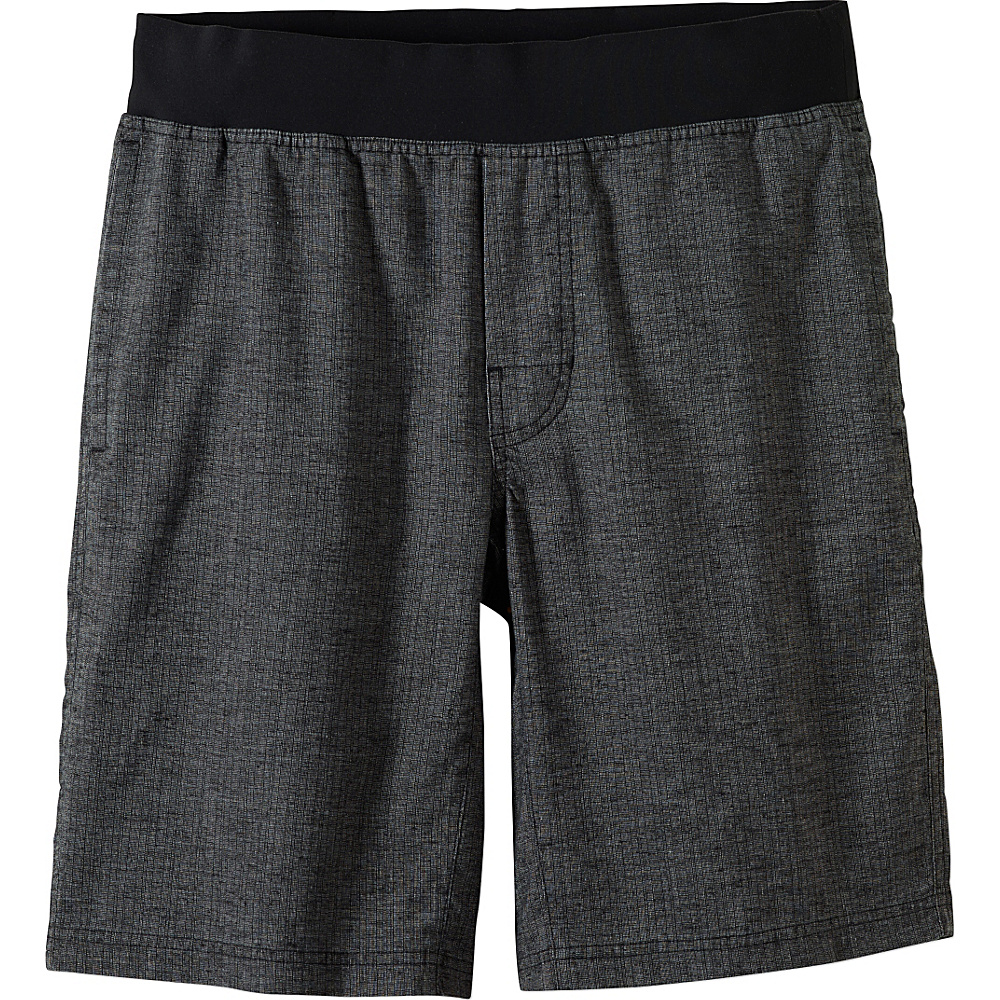 PrAna Vaha Short L - Black Herringbone - PrAna Mens Apparel - Apparel & Footwear, Men's Apparel