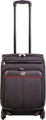 Andare Milan 20 inch 8 Wheel Spinner Upright Black - Andare Softside Carry-On