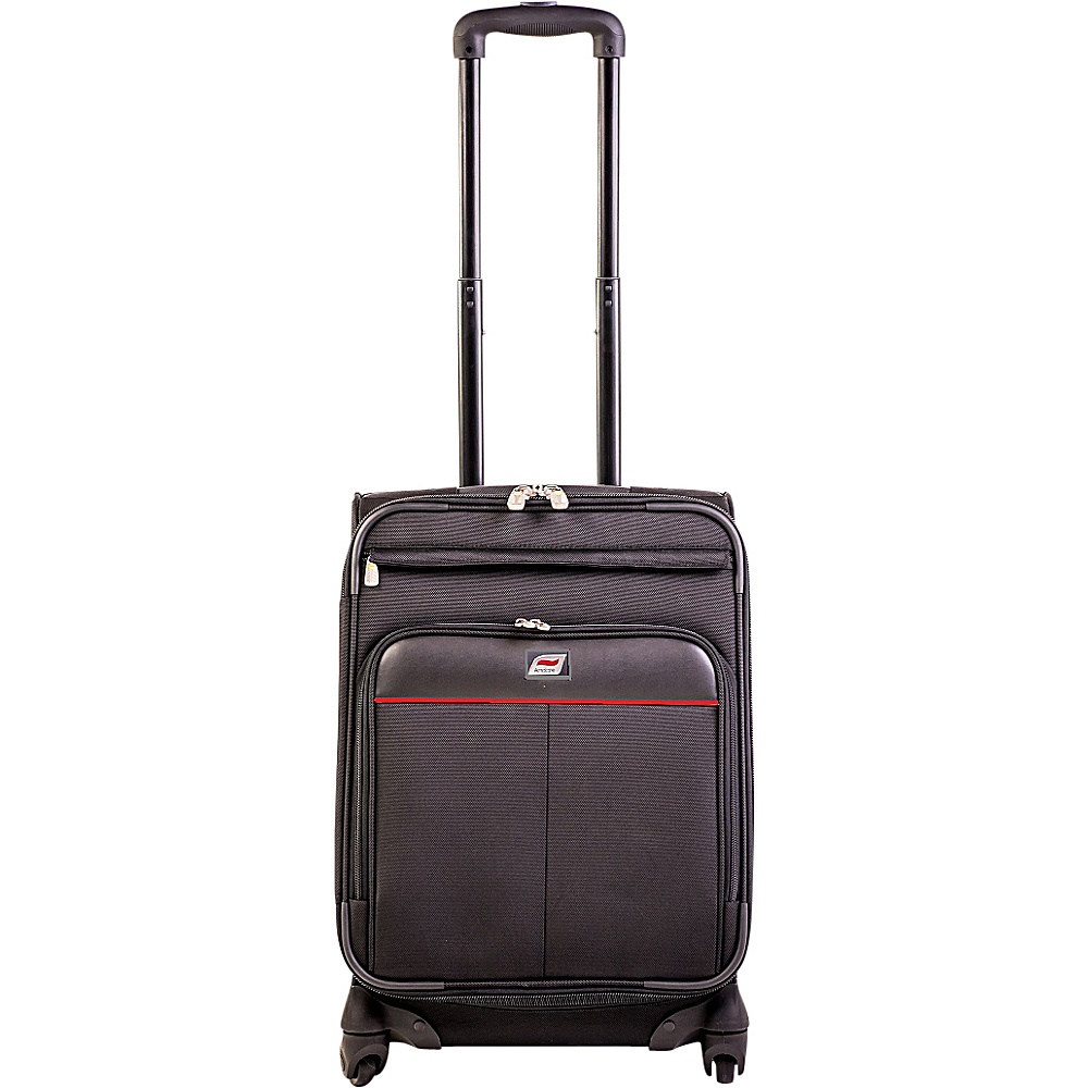 Andare Milan 20 8 Wheel Spinner Upright Black Andare Softside Carry On