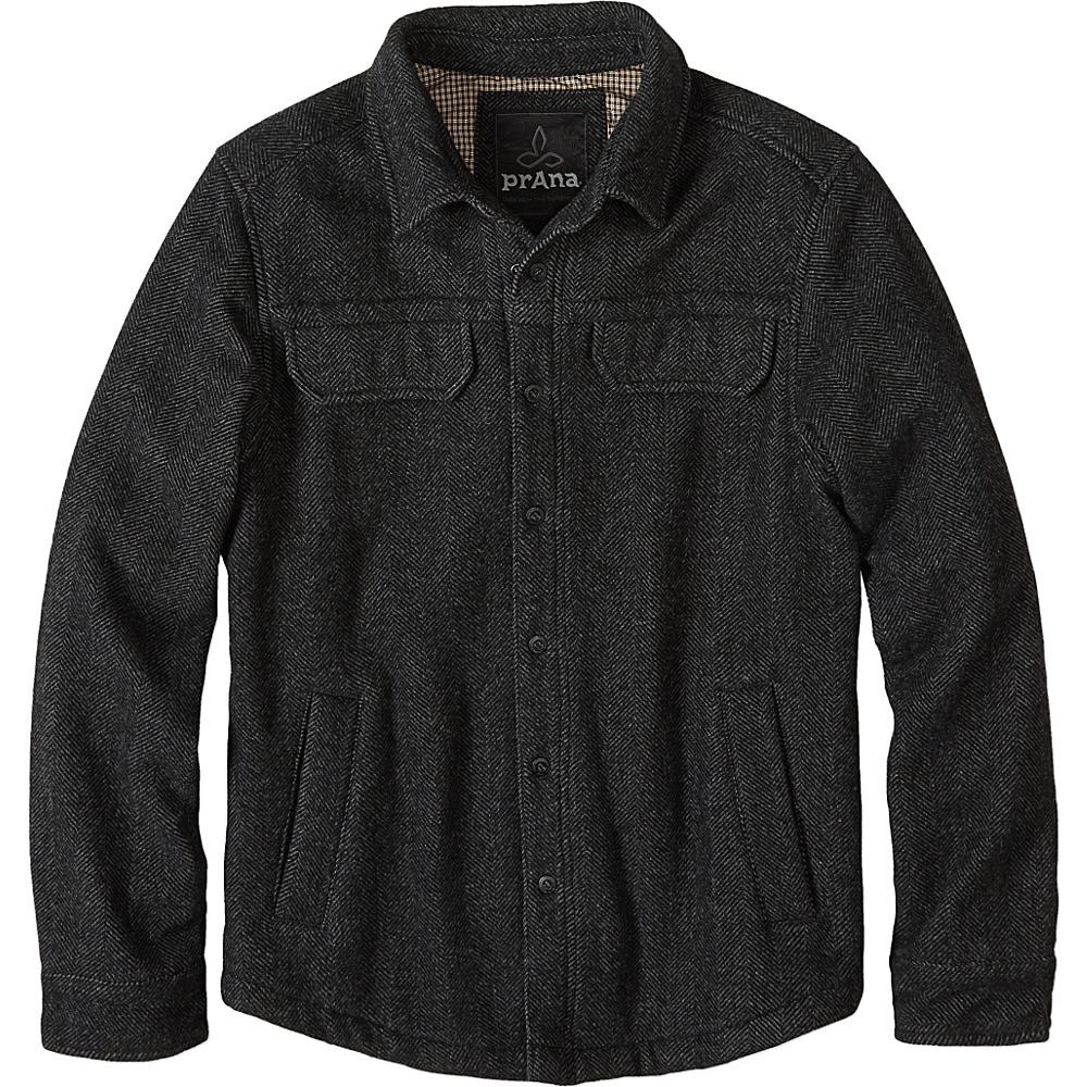 PrAna Wooley Jacket S - Charcoal Tweed - PrAna Mens Apparel - Apparel & Footwear, Men's Apparel