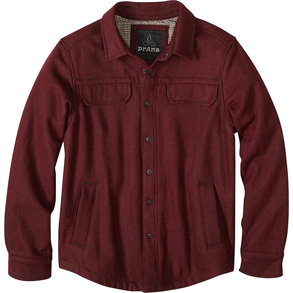 PrAna Wooley Jacket S - Dark Umber Heather - PrAna Mens Apparel - Apparel & Footwear, Men's Apparel