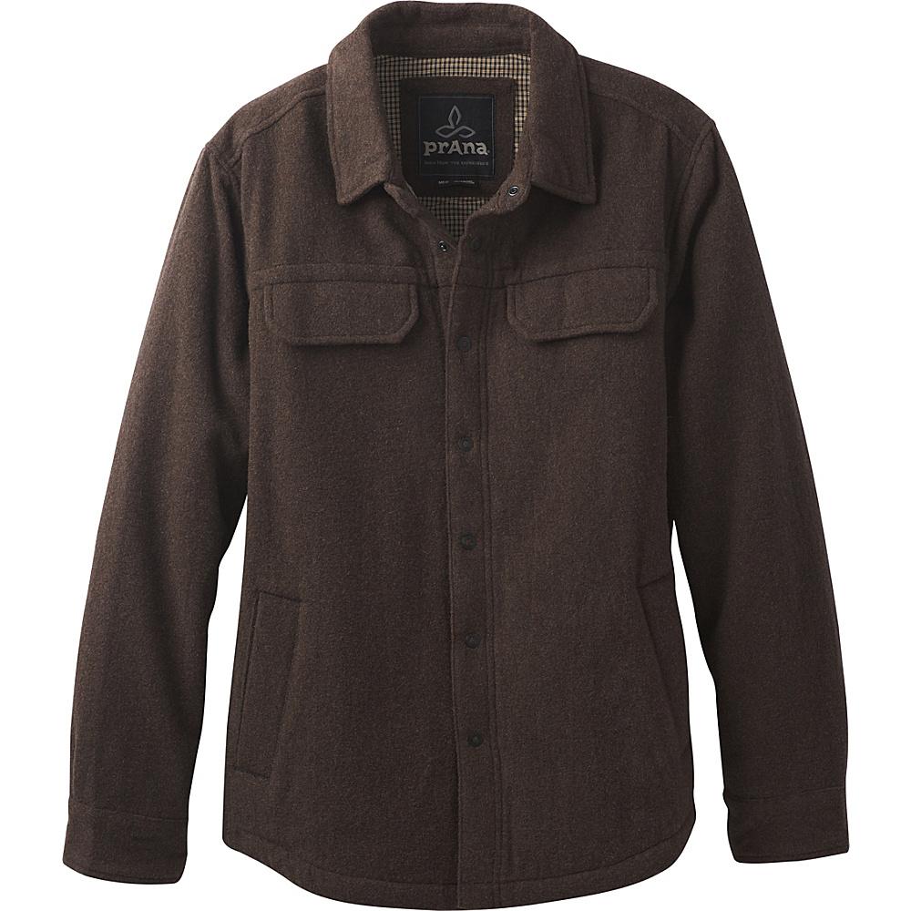 PrAna Wooley Jacket L - Coffee Bean Heather - PrAna Mens Apparel - Apparel & Footwear, Men's Apparel