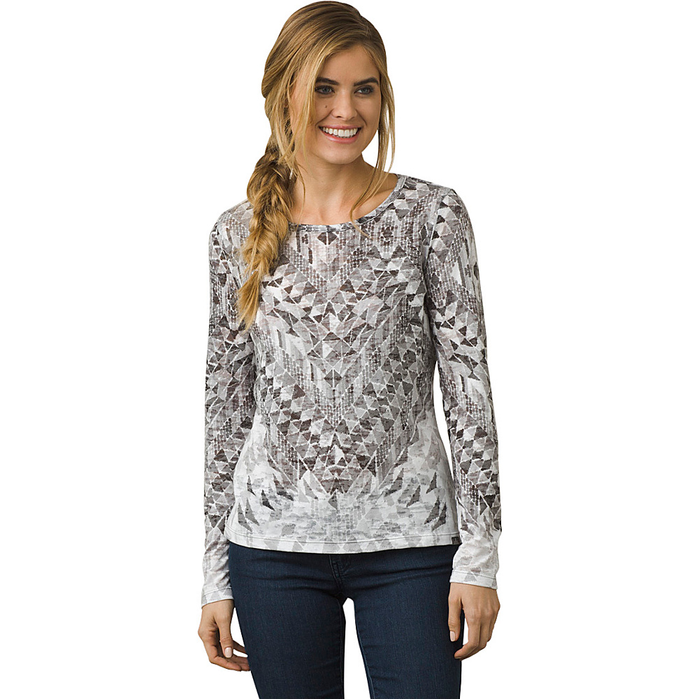 PrAna Ravena Crew Neck Top XS - Charcoal - PrAna Womens Apparel - Apparel & Footwear, Women's Apparel