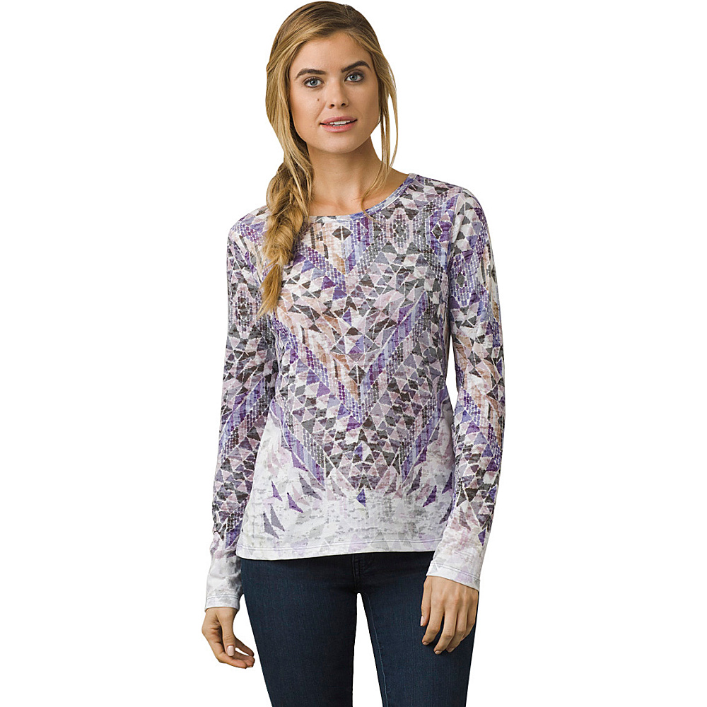 PrAna Ravena Crew Neck Top XL - Gray Indigo - PrAna Womens Apparel - Apparel & Footwear, Women's Apparel