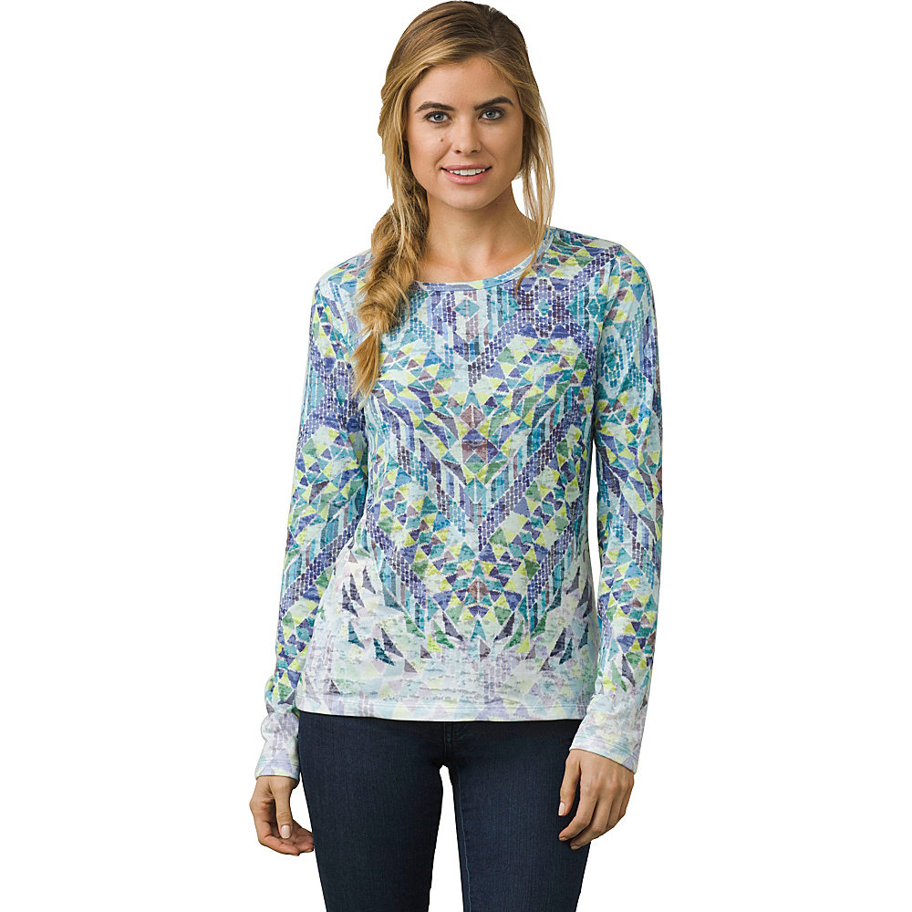 PrAna Ravena Crew Neck Top M - Baltic - PrAna Womens Apparel - Apparel & Footwear, Women's Apparel