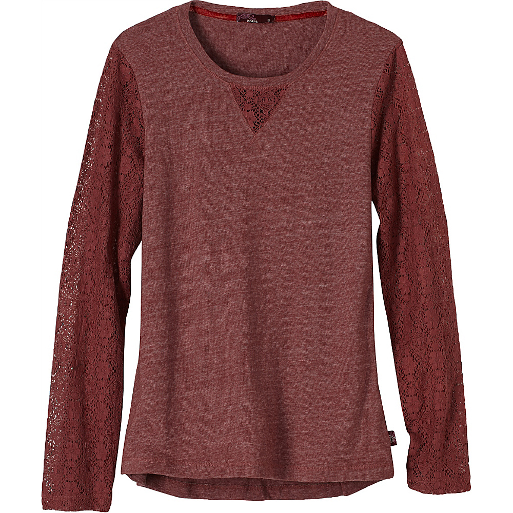PrAna Darla Top XL - Deep Marsala - PrAna Womens Apparel - Apparel & Footwear, Women's Apparel