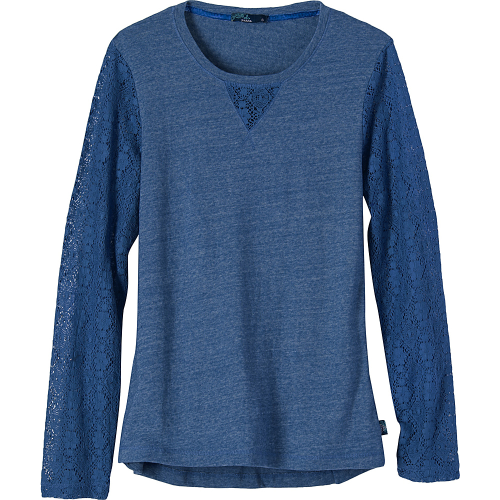 PrAna Darla Top L - Vintage Cobalt - PrAna Womens Apparel - Apparel & Footwear, Women's Apparel