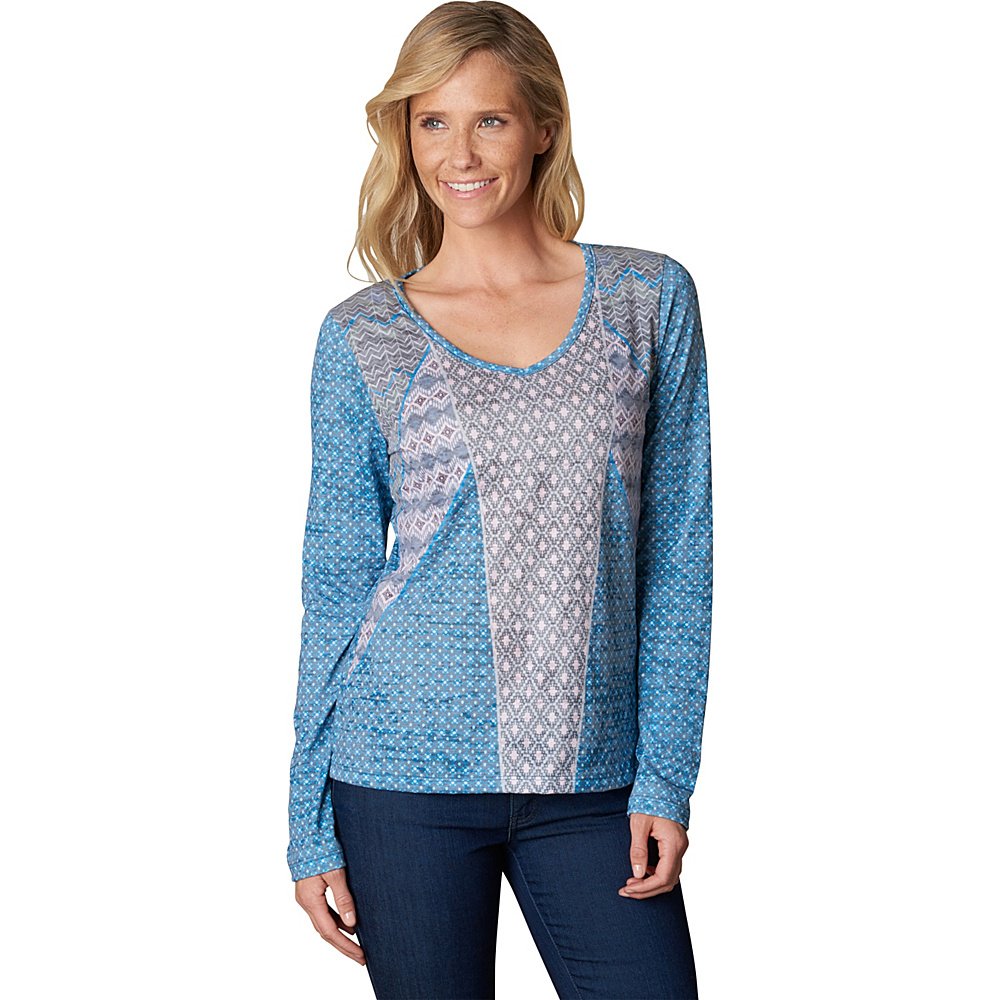 PrAna Mariposa Top M - Baltic - PrAna Womens Apparel - Apparel & Footwear, Women's Apparel